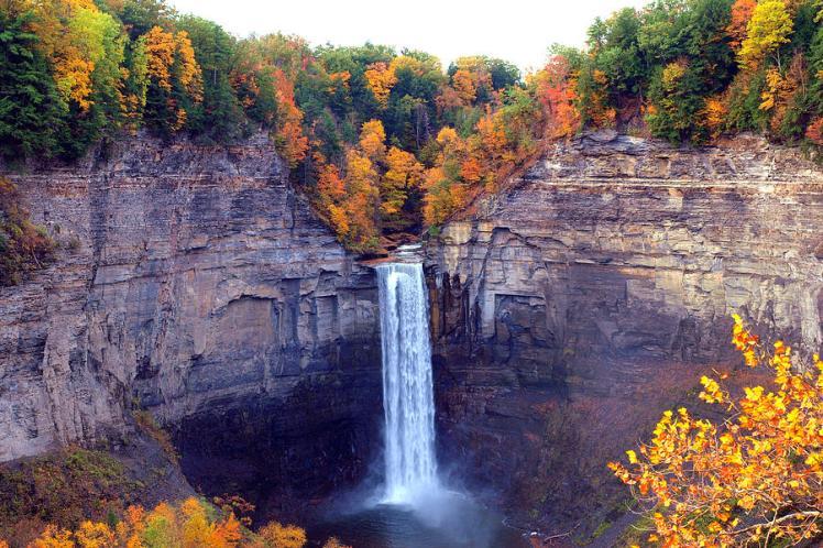 Taughannock Falls in Fall
